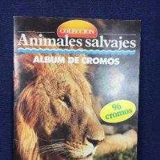 Coleccionismo Álbumes: ANIMALES SALVAJES ALBUM CROMOS INCOMPLETO MULTILIBRO 89 CROMOS. Lote 148763566