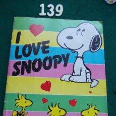 Coleccionismo Álbumes: ALBUM ILOVE SNOOPY PANINI CON 139 CROMOS. Lote 149951062