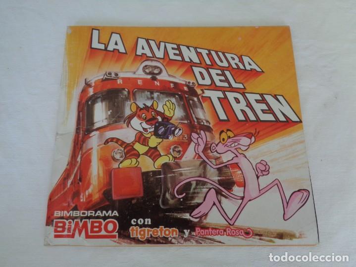 ALBUM LA AVENTURA DEL TREN, BIMBO TIGRETON PANTERA ROSA - VACIO - 1975 (Coleccionismo - Cromos y Álbumes - Álbumes Incompletos)