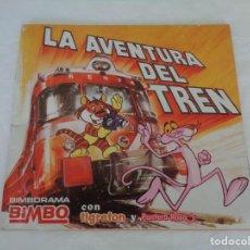 Coleccionismo Álbumes: ALBUM LA AVENTURA DEL TREN, BIMBO TIGRETON PANTERA ROSA - VACIO - 1975. Lote 150051850