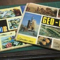 Coleccionismo Álbumes: 2 ÁLBUMES DE CROMOS ESPAÑOLES: VIDA Y COLOR, GEO-CIENCIAS. Lote 150526422