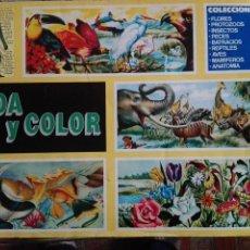 Coleccionismo Álbumes: ALBUM DE CROMOS VIDA Y COLOR DE COMICROMO , AÑO 1992 CON 184 CROMOS.. Lote 118083687
