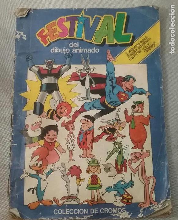 ALBUM FESTIVAL DEL DIBUJO ANIMADO. ED. PACOSA DOS. FALTAN 4 CROMOS (Coleccionismo - Cromos y Álbumes - Álbumes Incompletos)