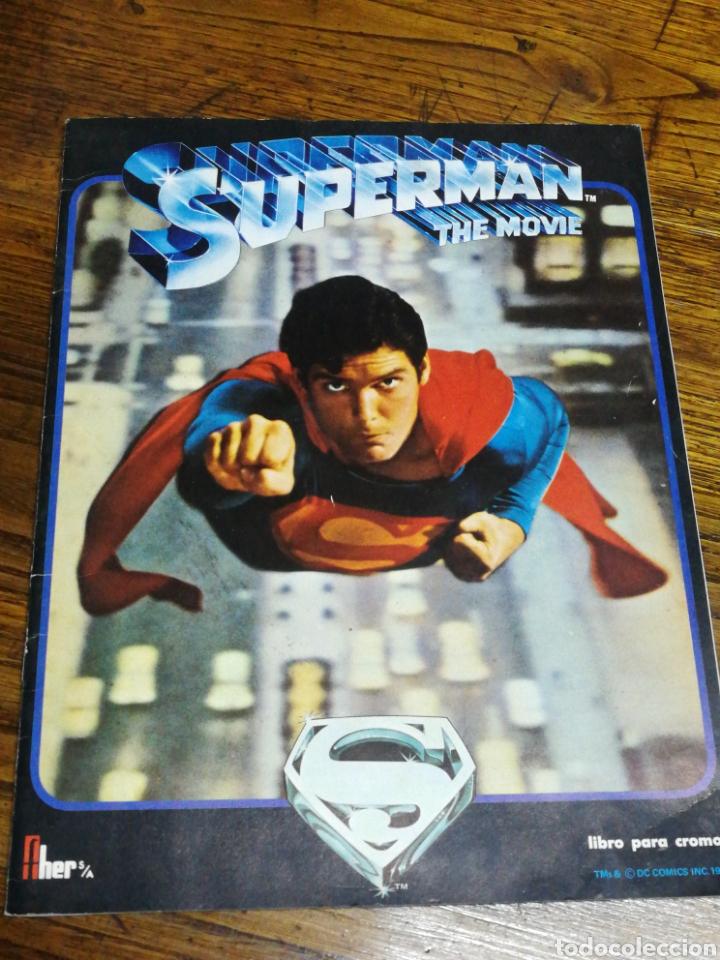 ALBUM CROMOS SUPERMAN THE MOVIE- EDITORIAL FHER, 1978, CONTIENE 53 CROMOS Y POSTER CENTRAL. (Coleccionismo - Cromos y Álbumes - Álbumes Incompletos)