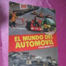 Coleccionismo Álbumes: EL MUNDO DEL AUTOMOVIL ALBUM IN COMPLETO FALTAN 3 CROMOS BIMBO.. Lote 151031082