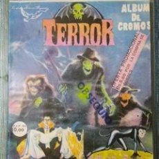 Coleccionismo Álbumes: ALBUM DE CROMOS TERROR (VACIO) + 200 SOBRES SIN ABRIR (REYAUCA AÑOS 80). Lote 151114738