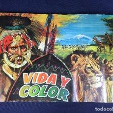 Coleccionismo Álbumes: VIDA Y COLOR ALBUM INCOMPLETO EDICIONES ALBUMES ESPAÑOLES 507 CROMOS FALTAN 94. Lote 151136134