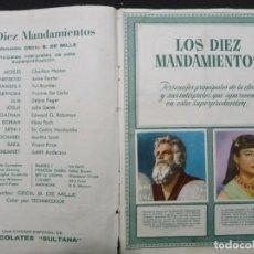 Coleccionismo Álbumes: LOS 10 MANDAMIENTOS. ALBUM INCOMPLETO DE LA MÍTICA PELÍCULA. Lote 151460142