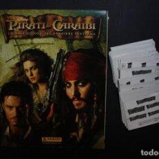 Coleccionismo Álbumes: ABRACAVARIOS. 'PIRATI DEI CARAIBI' (COLECCIÓN INCOMPLETA) + REPETIDAS. Lote 151641538