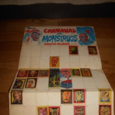 Coleccionismo Álbumes: ALBUM CARNAVAL DE MONSTRUOS PRODUCTOS MILLONARIO, FALTAN 48 CROMOS. Lote 152199422