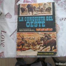 Coleccionismo Álbumes: LA CONQUISTA DEL OESTE BRUGUERA PORTADA FALTA UN TROZO. Lote 152209462