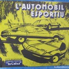Coleccionismo Álbumes: ÁLBUM INCOMPLETO L'AUTOMÒBIL ESPORTIU. ESTALVI ESCOLAR CAIXA DE PENSIONS, LA CAIXA, . Lote 152401450