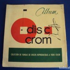 Coleccionismo Álbumes: (AL-190208) ALBUM DISC CROMO - FALTA 1 CROMO Nº51. Lote 152916842