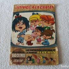 Coleccionismo Álbumes: ALBUM DE CROMOS: VAMOS A LA CAMA. LAS FANTASTICAS AVENTURAS DE LA FAMILIA TELERIN - BRUGUERA 1965. Lote 152952286