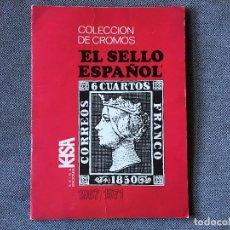 Coleccionismo Álbumes: ALBUM DE CROMOS EL SELLO ESPAÑOL CON 215 CROMOS, INCOMPLETO. Lote 153040818