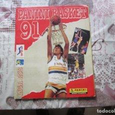 Coleccionismo Álbumes: ALBUM PANINI BASKET 91 FALTAN 76 CROMOS DE 214 . Lote 153690798