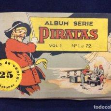 Coleccionismo Álbumes: ANTIGUO ÁLBUM DE CROMOS DE CHICLES BOBLERO - SERIE PIRATAS VOL. 1 EXTRAORDINARIA CONSERVACIÓN . Lote 153789362