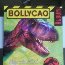 Coleccionismo Álbumes: ÁLBUM CROMOS BOLLYCAO PANRICO JURASSIC PARK EL MUNDO PERDIDO VACIO. Lote 154402610