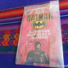 Coleccionismo Álbumes: ÁLBUM PUZZLE CHICLE BATMAN INCOMPLETO FALTAN 2 CROMOS. AÑO 1989. MUY RARO.. Lote 154489278