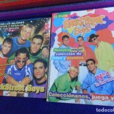 Coleccionismo Álbumes: DOS VERSIONES ÁLBUM CHICLE BACKSTREET BOYS VACÍO. REGALO ÁLBUM DUNKIN AARON CARTER TELEPHONE VACÍO.. Lote 154489746