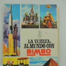 Coleccionismo Álbumes: ALBUM CON CROMOS LA VUELTA AL MUNDO CON BIMBO NUMERADO NUMERO 02436. Lote 154976178