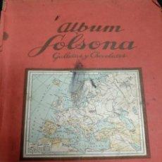 Coleccionismo Álbumes: ALBUM SOLSONA - GALLETAS Y CHOCOLATES - CONTIENE 275 CROMOS -. Lote 155246022