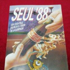Coleccionismo Álbumes: ÁLBUM SEUL '88. COCACOLA. SIN CROMOS.. Lote 155255065
