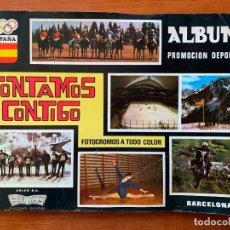 Coleccionismo Álbumes: ALBUM CONTAMOS CONTIGO. COLECCIONES EDUCATIVAS. INCOMPLETO.. Lote 155488666
