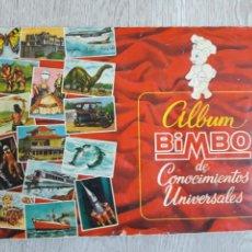 Coleccionismo Álbumes: ÁLBUM BIMBO DE CONOCIMIENTOS UNIVERSALES- FALTAN 4 CROMOS. Lote 155827956