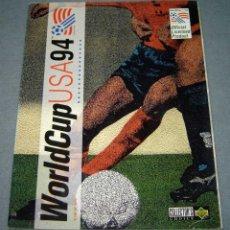 Coleccionismo Álbumes: ÁLBUM DE CROMOS DE FÚTBOL WORLD CUP USA 94 UPPER DECK 1994. Lote 157206078