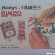 Coleccionismo Álbumes: ALBUM DE CALQUITOS DE BIMBO , BONYS Y BUCANEROS , SERIE CIRCO.. Lote 157860718