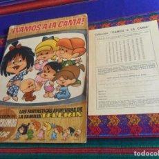 Coleccionismo Álbumes: ¡VAMOS A LA CAMA! LA FAMILIA TELERÍN INCOMPLETO CON CUPÓN SIN USAR Y 83 CROMOS DE 180. BRUGUERA 1965. Lote 159933746