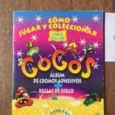Coleccionismo Álbumes: ALBUM GOGO'S LIBRO OFICIAL EN PERFECTO ESTADO INCOMPLETO FALTAN 14 CROMOS DE 60 GOGOS 1996. Lote 159952630
