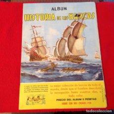 Coleccionismo Álbumes: ALBUM HISTORIA DE LOS BARCOS, COLECCIÓN DE 113 CROMOS, FALTAN EL 12, 49, Y 85, FOTOGRAFIADO ENTERO.. Lote 160013998