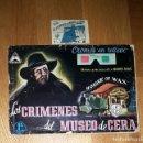 Coleccionismo Álbumes: LOS CRIMENES DEL MUSEO DE CERA -1ª PARTE- CROMOS EN RELIEVE INCOMPLETO TRIDEX + SOBRE CROMOS CERRADO. Lote 160219714