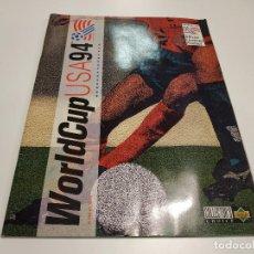 Coleccionismo Álbumes: 419- ALBUM DE CROMOS DE FÚTBOL WORLD CUP USA 94 DE UPPER DECK - INCOMPLETO - CONTIENE 100 CROMOS. Lote 160282358