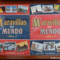 Coleccionismo Álbumes: MARAVILLAS DEL MUNDO ALBUM I Y ALBUM II INCOMPLETOS EN MUY BUEN ESTADO. Lote 160291698