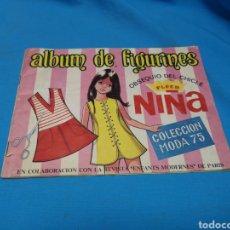 Coleccionismo Álbumes: ALBUM DE FIGURINES CHICLE FLEER NIÑA MODA 75. Lote 160540230