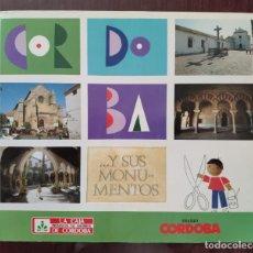 Coleccionismo Álbumes: ALBUM DE CROMOS CORDOBA Y SUS MONUMENTOS (CASI COMPLETO) (CAJA PROVINCIAL Y DIARIO CORDOBA 1989. Lote 160575534