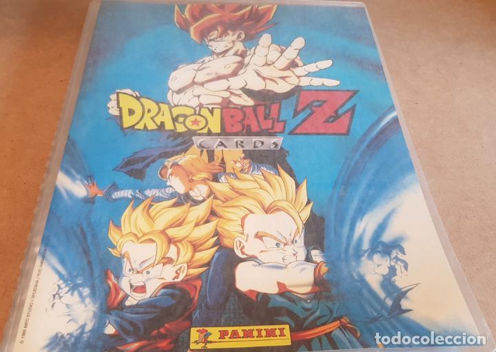 DRAGON BALL Z / ARCHIVADOR CON 219 CARDS / SERIE AZUL Y SERIE 2 / MUY BUEN ESTADO. (Coleccionismo - Cromos y Álbumes - Álbumes Incompletos)