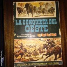 Coleccionismo Álbumes: ALBUM DE CROMOS INCOMPLETO - LA CONQUISTA DEL OESTE - BRUGUERA -. Lote 161517794