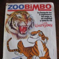 Coleccionismo Álbumes: ZOO BIMBO. LOTE DE DOS ÁLBUMES DE CROMOS. Lote 161937694
