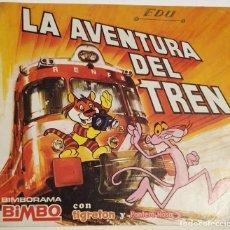 Coleccionismo Álbumes: LA AVENTURA DEL TREN. BIMBORAMA BIMBO. Lote 161944614