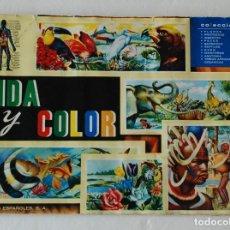 Coleccionismo Álbumes: ALBUM DE CROMOS - VIDA Y COLOR - CON CUPON SORTEO ORIGINAL - FALTAN 17 - ALBUMES ESPAÑOLES S.A. Lote 162112346
