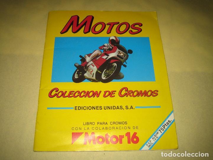 MOTOS - ALBUM INCOMPLETO - FALTAN 16 CROMOS (Coleccionismo - Cromos y Álbumes - Álbumes Incompletos)