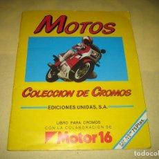 Coleccionismo Álbumes: MOTOS - ALBUM INCOMPLETO - FALTAN 16 CROMOS . Lote 162338226