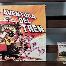 Coleccionismo Álbumes: ÁLBUM DE 70 CROMOS. LA AVENTURA DEL TREN. INCOMPLETO. BIMBORAMA. BRB.. Lote 162556702