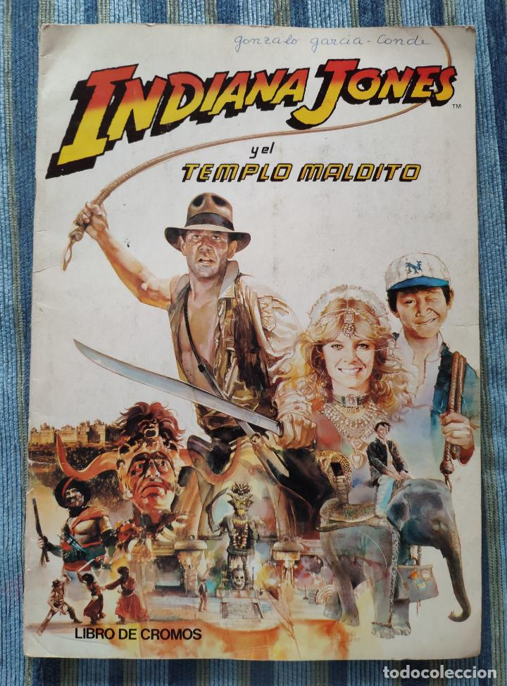 ALBUM DE CROMOS INDIANA JONES Y EL TEMPLO MALDITO (INCOMPLETO) (PACOSA DOS 1984) (Coleccionismo - Cromos y Álbumes - Álbumes Incompletos)
