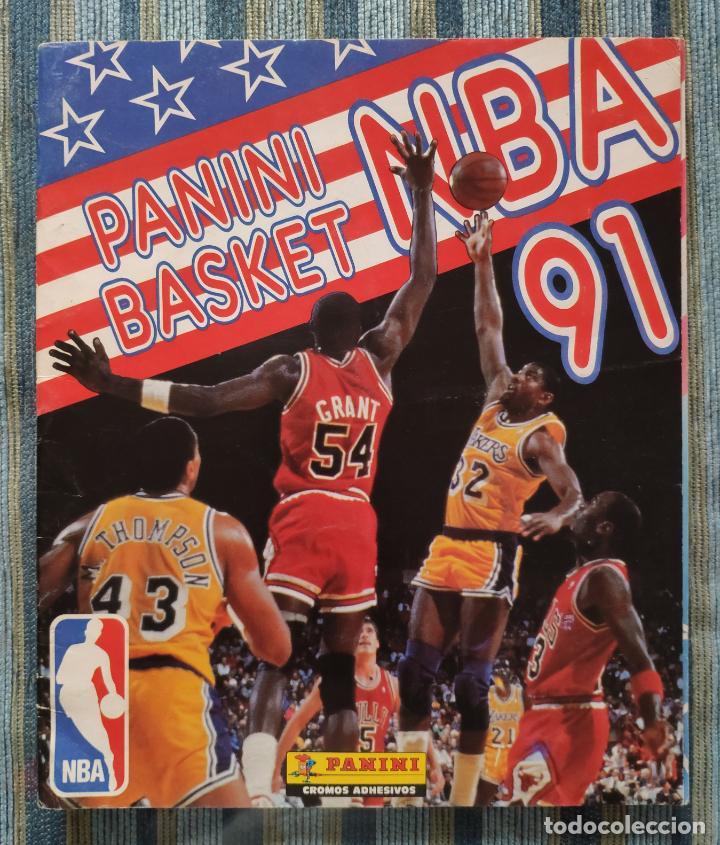 ALBUM DE CROMOS PANINI BASKET NBA 91 (INCOMPLETO) (PANINI 1991) (Coleccionismo - Cromos y Álbumes - Álbumes Incompletos)