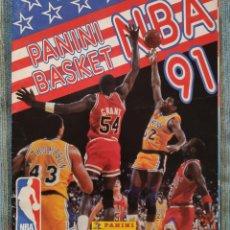 Coleccionismo Álbumes: ALBUM DE CROMOS PANINI BASKET NBA 91 (INCOMPLETO) (PANINI 1991). Lote 162562850